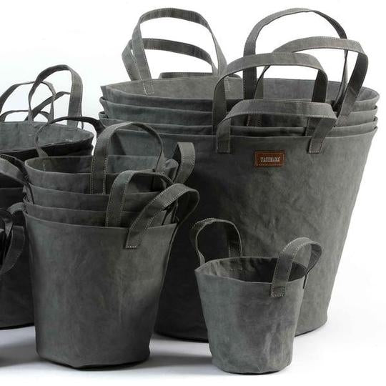 UASHMAMA - Paper Bucket, Dark Grey