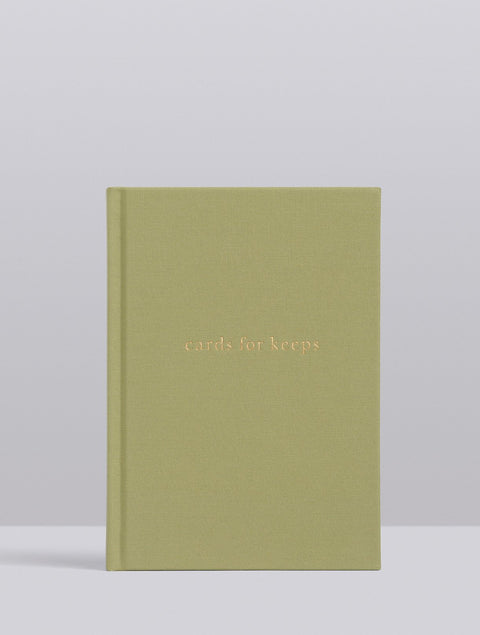 WRITE TO ME - Cards For Keeps, Sage Green Linen