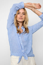 RAILS - Charli, Azure Stripe Shirt - Makers On Mount