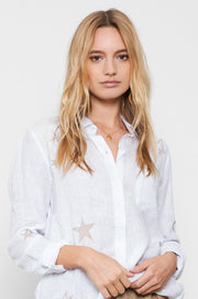 RAILS - Charli, Rose Gold Star Embroidery Shirt