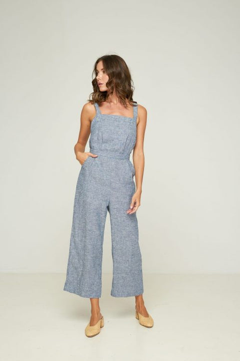 RUE STIIC - Erika Overall, Chambray Linen - Makers On Mount