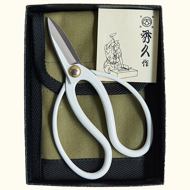 THE PLANT RUNNER - Hidehisa Mini Flower Shears, White