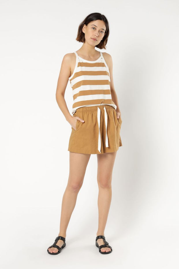 NUDE LUCY - Nude Classic Linen Short, Tobacco