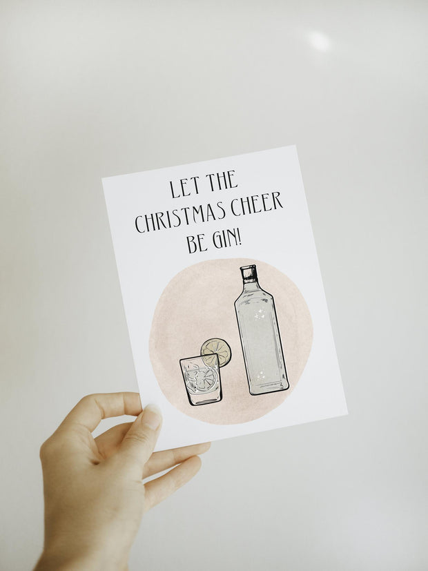 OLIVIA WESTCOTT CREATIVE - Blank Card, Christmas Cheer Be Gin