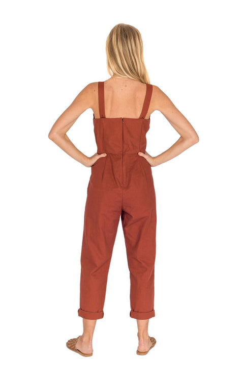 THE BARE ROAD - Joan Jumpsuit, Earth Red