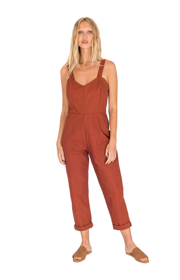 THE BARE ROAD - Joan Jumpsuit, Earth Red - Makers On Mount