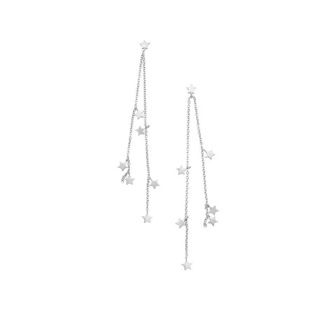 JOLIE & DEEN - Mae Star Stirling Silver Earrings, Silver