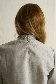 ARTHUR - Madam Blouse, Striped Hemp