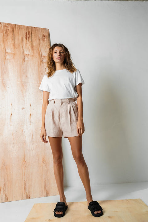 ARTHUR - Tailored Short, Blush - Makers On Mount