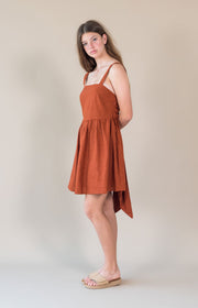 THE BARE ROAD - Maisie Dress,Rust - Makers On Mount