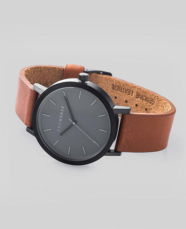 THE HORSE - The Original Watch, Tan/Black (Grey Face) - Makers On Mount
