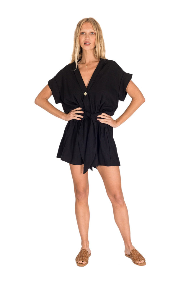 Jumpsuits & Rompers The Bare Road Fawn Linen Playsuit Xs Cheap Sales 50% Clothing, Shoes & Accessories