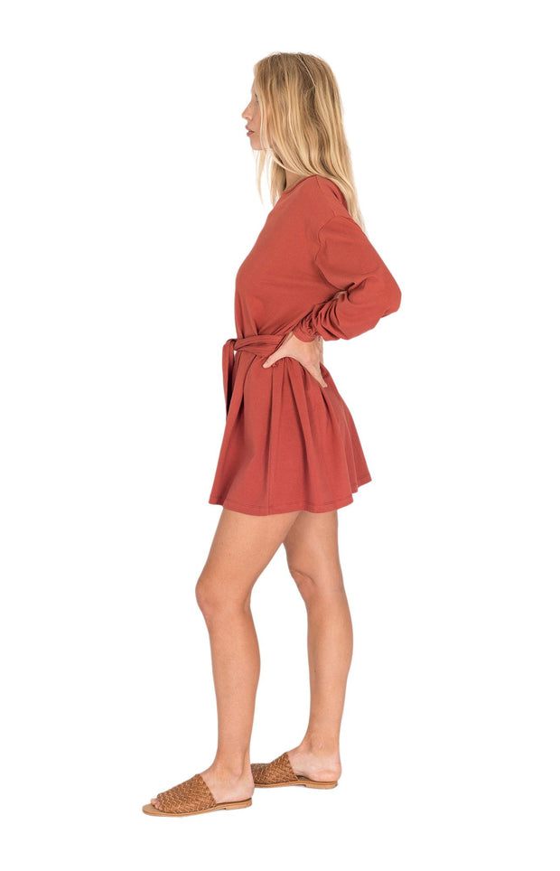 THE BARE ROAD - Piper Hemp Dress, Earth Red