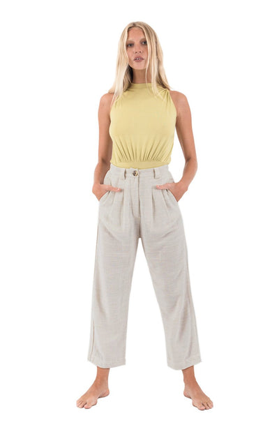 THE BARE ROAD - Portofino Pant, Natural