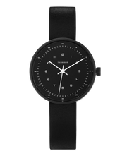 THE HORSE - The Minimal Watch (small), Black/Black