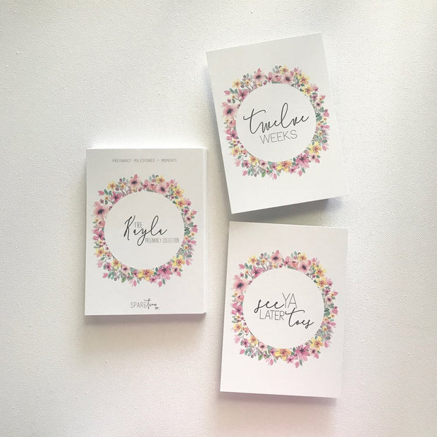 SPARE TIME CO - Milestone Cards, The Kayla Collection - Makers On Mount