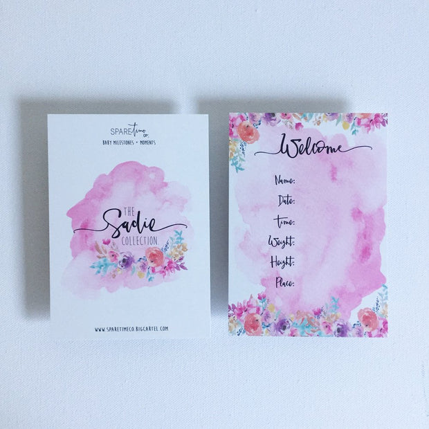 SPARE TIME CO - Milestone Cards, The Sadie Collection - Makers On Mount