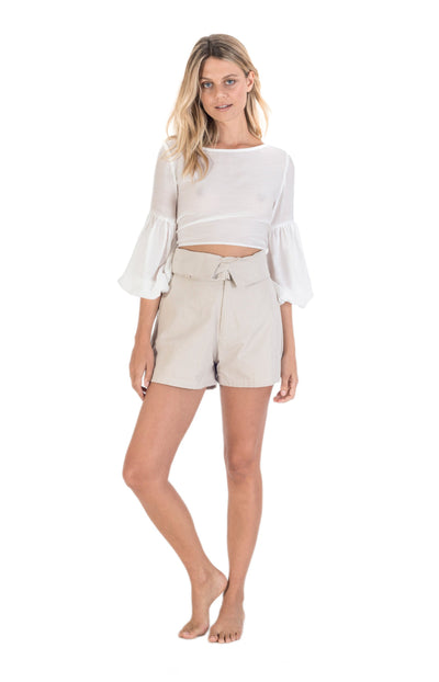 THE BARE ROAD - Safari Canvas Short, Natural Beige