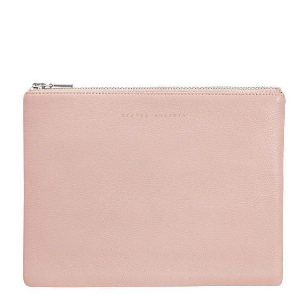 STATUS ANXIETY - Anti-Heroine Clutch, Dusty Pink