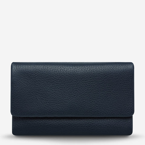 STATUS ANXIETY - Audrey Wallet, Pebble Navy