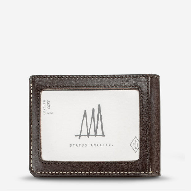 STATUS ANXIETY - Ethan Wallet, Chocolate