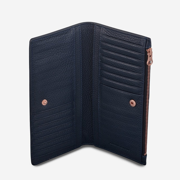 STATUS ANXIETY - In the Beginning Wallet, Navy Blue - Makers On Mount