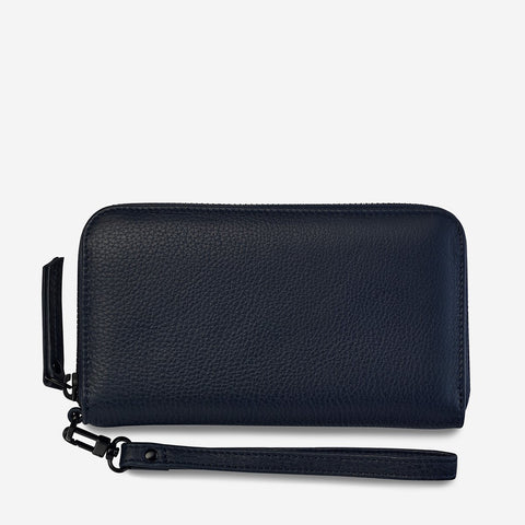 STATUS ANXIETY - Moving On Wallet, Navy Blue - Makers On Mount