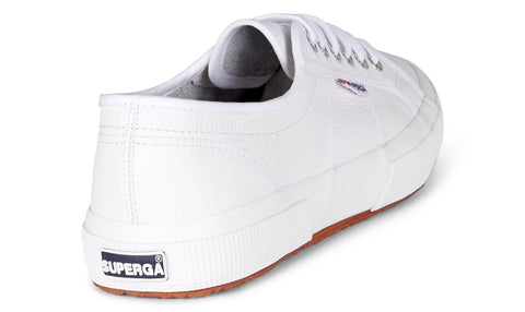 SUPERGA - 2750 Efglu Leather, White - Makers On Mount
