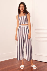 THE FIFTH - Sequence Stripe Top, Navy W Ivory