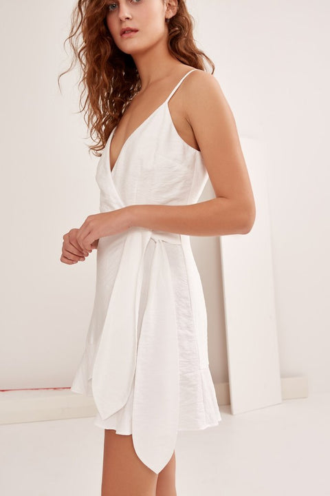 THE FIFTH - Soulmate Wrap Dress, Ivory - Makers On Mount