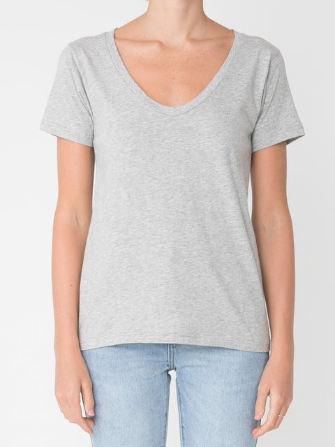 NUDE LUCY - Blake Solid Basic V Neck Tee
