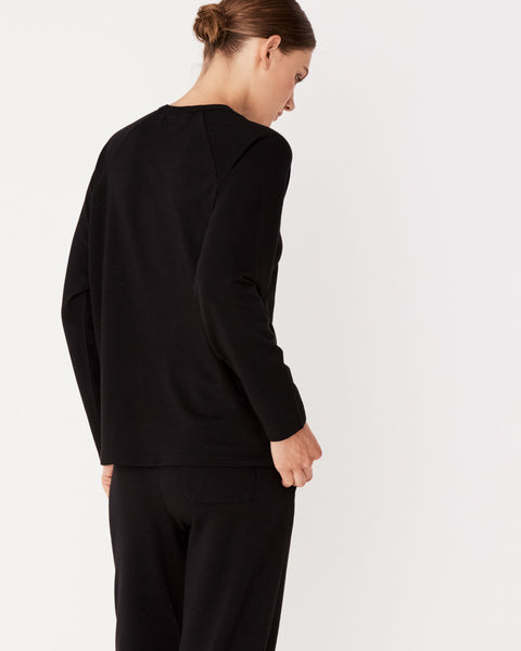 ASSEMBLY LABEL - Kin Fleece Top, Black - Makers On Mount
