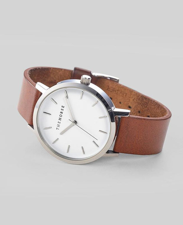 THE HORSE - The Original Watch, Tan/Steel - Makers On Mount