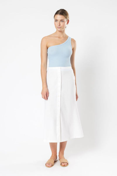 NUDE LUCY - Finley Ribbed Tank, Capri Blue