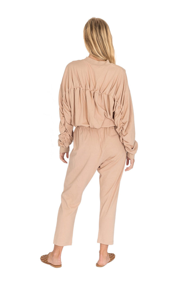 THE BARE ROAD - Hemp Slouch Pant, Beige - Makers On Mount