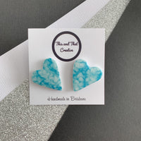 Textured Love Heart Studs