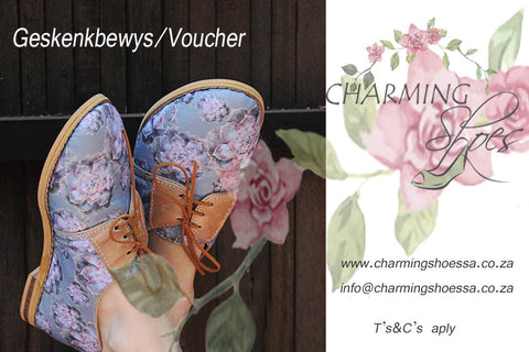 Charming Shoes SA Geskenkbewys/Gift Voucher