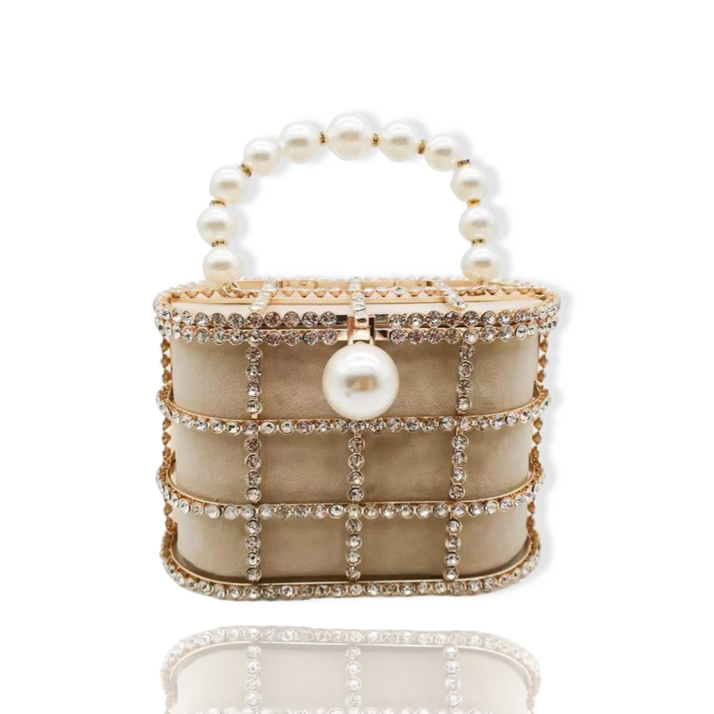 Caged Pearls Bag