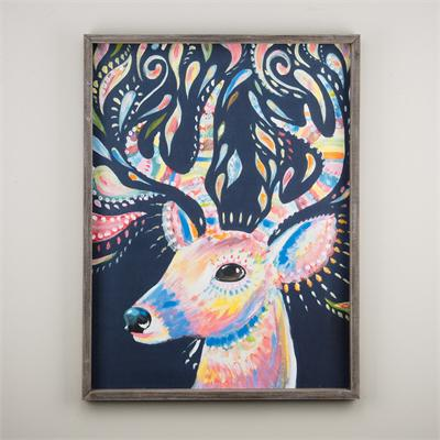 Deer Framed Board