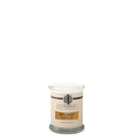 Bergamot Tobacco Glass Jar Candle