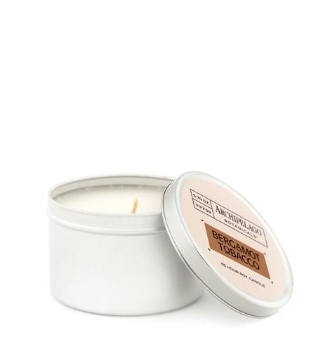 Bergamot Tobacco Tin Candle