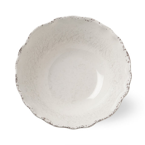 Veranda Ivory Melamine Serving Bowl