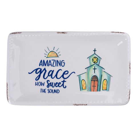 Amazing Grace Church Trinket Tray