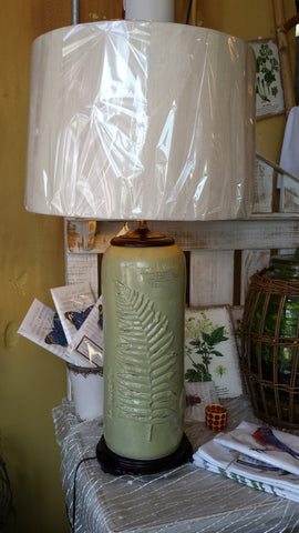 Green Fern Lamp