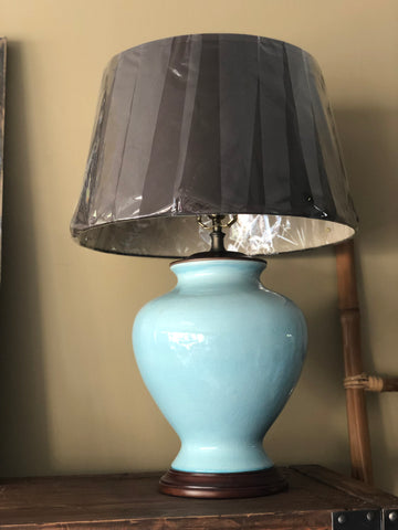 Aqua Lamp with Chocolate Shade