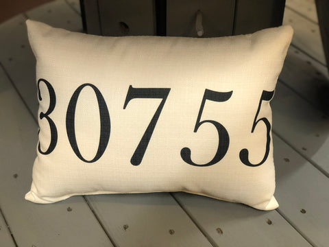 Zip Code Pillow - 30755