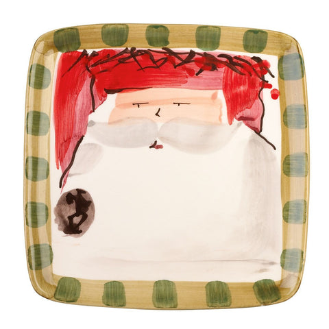 Old St. Nick Assorted Square Salad Plates