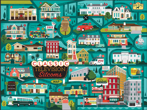 Classic Sitcoms Map Puzzle