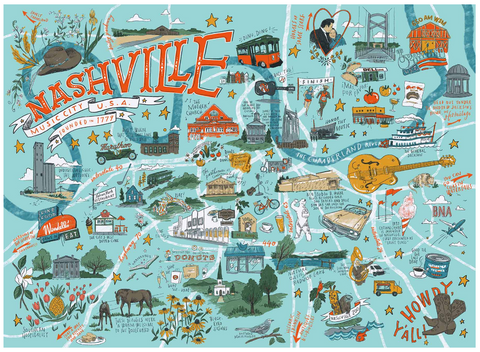 Nashville Illustrated Puzzle