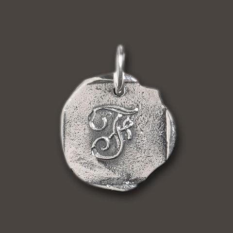 "Baby ""F"" Initial Charm by Waxing Poetic"